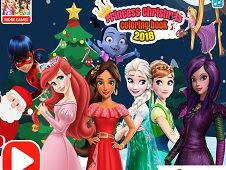 Princess Christmas Coloring Book 2018