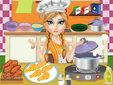 Anna Cooking Hot Crispy