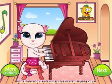 Baby Angela Playing Piano