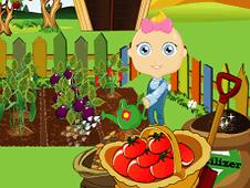 Baby Bunny Gardening