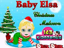 Baby Elsa Christmas Makeover