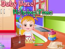Baby Hazel Helping Day