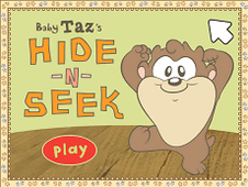 Baby Taz Hide and Seek