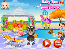 Baby Tom Pool Party