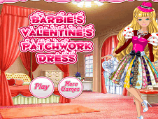Barbies Valentine's Patchwork Dress