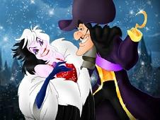 Captain Hook and Cruella de Vil Dancing