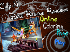 Chip N Dale Rescue Ranger Online Coloring