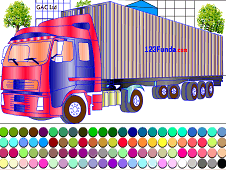 Container Truck Coloring