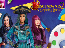 Descendants 2 Coloring Book
