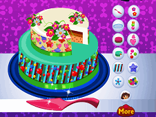 Dora Delicious Cake Decor