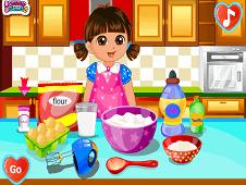Dora Make Cake Love