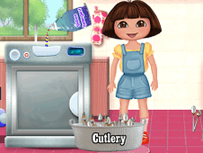 Dora Washing Dishes