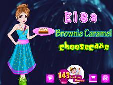 Elsa Brownie Caramel Cheesecake
