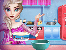 Elsa Cooking Christmas Cake