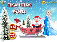 Elsa Helps Santa