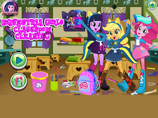 Equestria Girls Classroom Cleaning