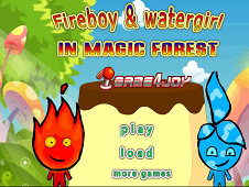 Fireboy and Watergirl in Magic Forest