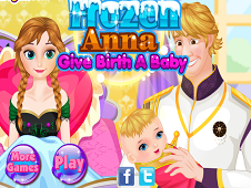 Frozen Anna Give birth to a Baby