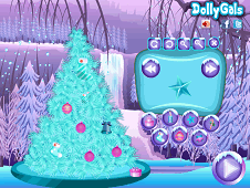 Frozen Christmas Tree Clean and Decor