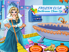 Frozen Elsa Bathroom Clean Up