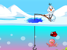 Frozen Olaf Fishing Time