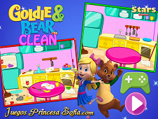 Goldie and Bear Clean