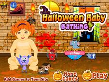 Halloween Baby Bathing