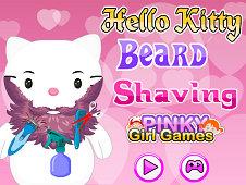 Hello Kitty Beard Shaving