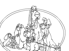 Lady and the Tramp Online Coloring