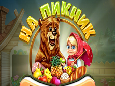 Masha and Bear At A Picnic