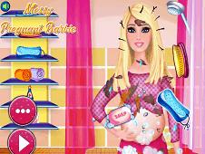 Messy Pregnant Barbie