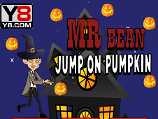 Mr Bean Jump on Pumpkin
