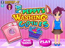 Peppys Washing Clothes