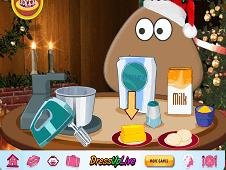 Pou Christmas Cake