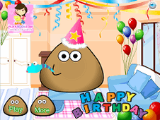 Pou Happy Birthday Party