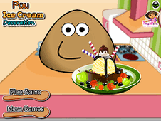Pou Icecream Decoration