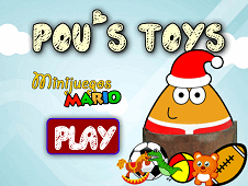 Pou Playing With Toys