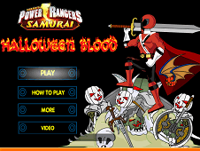 Power Rangers Halloween Blood