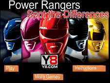 Power Rangers Spot the Differences