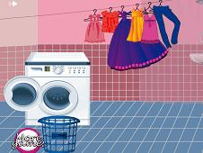 Pregnant Mom Washing Clothes