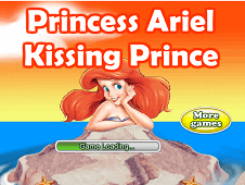 Princess Ariel Kissing Prince