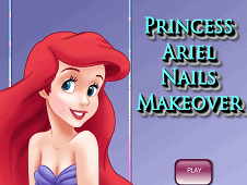 Princess Ariel Nails Makeover