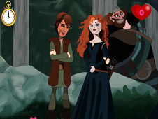 Princess Merida Kissing Prince