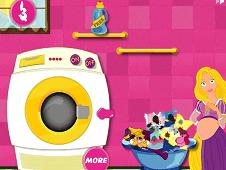 Rapunzel Drying Clothesa