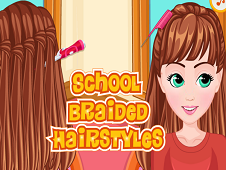 School Braided Hairstyle