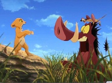 Simba and Pumba Scared