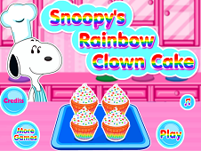 Snoopys Raimbow Clown Cake