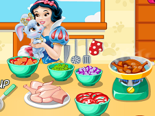 Snow White Cooking Soup