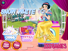 Snow White Washing Clothes