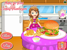Sofia The First Cooking Hamburgers
